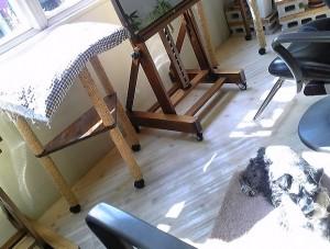 2012 4 18 1 300x227 今日はベッドの敷物を夏用に交換
